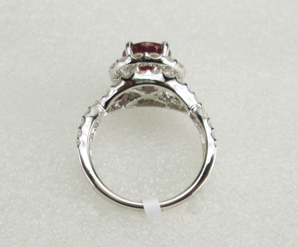 18 K White Gold Ring With Diamond